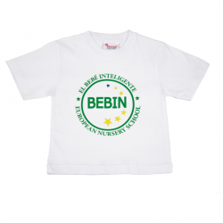 Camiseta blanca M/corta, BEBIN